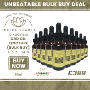 10 x Bottles of 900mg CBD Oil Tincture (BULK BUY)