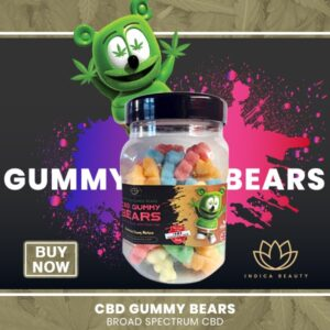 Natural, Vegan 1000mg CBD Gummies UK | My Indica Beauty